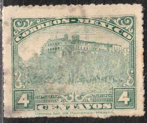 MEXICO 636, 4¢ CHAPULTEPEC CASTLE Unwmk USED. F-VF. (386)