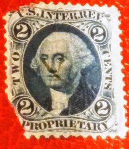 USA R13c 2 cent proprietary used F cv$ 250.00
