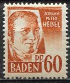 Germany, Baden; 1947: Sc. # 5N10: */MH Single Stamp