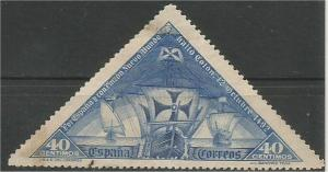 SPAIN, 1930, used 40c Ships Scott 428