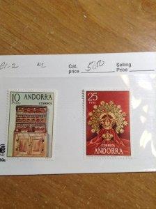 Andorra  (Spanish)  # 81-82  MNH