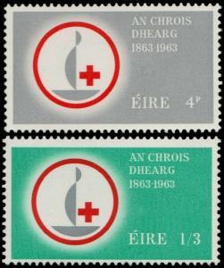 ✔️ IRELAND 1963 - RED CROSS CENTENARY - SC. 190/191 MNH OG [IR0161]