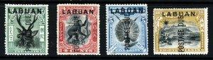 LABUAN 1901 Overprinted POSTAGE DUE Part Set SG D1 to SG D8 MINT