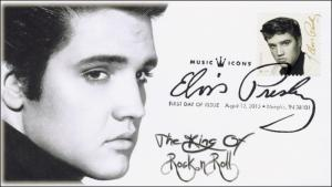 2015, Elvis Presley, BW, FDC, Music Icons, BW Pictorial, 15-202