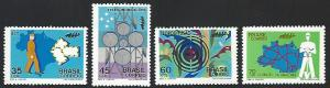 Brazil #1223-1226 Mint No Gum As Issued Full Set of 4