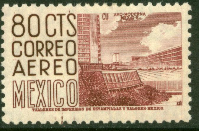 MEXICO C213, 80¢ 1950 Definitive 2nd Printing wmk 300 HORIZONTAL. MINT, NH. VF.