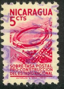 NICARAGUA 1952 5c STADIUM POSTAL TAX Sc RA61 VFU