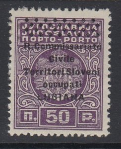 LJUBLJANA (Yugoslavia), Scott NJ6, MHR