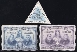 Philatelic Exposition Labels(3) - Mint - O.G. - N.H.
