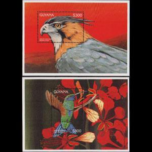 GUYANA 1996 - Scott# 3072-3 S/S Birds NH