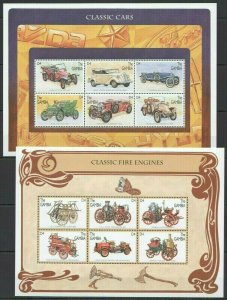 QF0212 GAMBIA TRANSPORT HISTORY CLASSIC CARS & FIRE ENGINES 2KB FIX