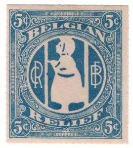 (I.B) US (Great War) Cinderella : Belgian Relief 5c
