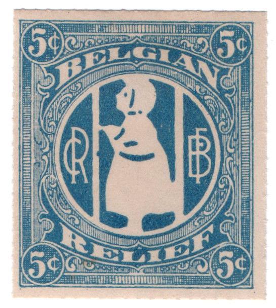 (I.B) US (Great War) Cinderella : Belgian Relief 5c