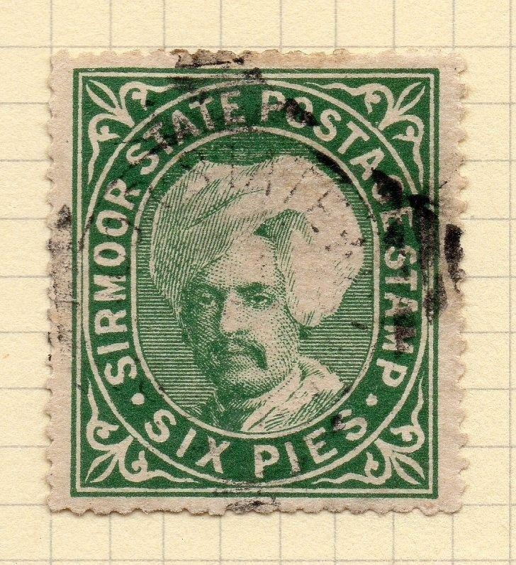 Indian States Sirmoor 1885-96 Early Issue Fine Used 6p. 194723