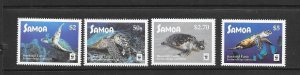 TURTLES - SAMOA #1270-3  HAWKSBILL  WWF  MNH