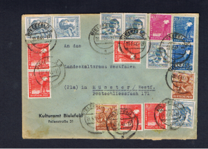 BERLIN  1948 MULTIPLE FRANKED COVER