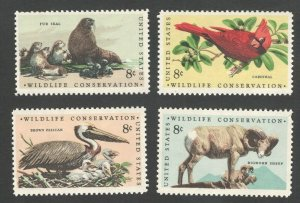 1464-67 Wildlife Conservation Set Of 4  Mint/nh Free Shipping (A-395)