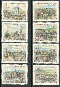 AUSTRIA 1964 WIPA 1965 Stamp Exhibition Semi Postal Set Sc B306-B313 MNH