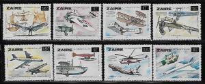 Zaire 1173-78 Surcharges set MNH