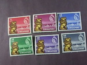 SINGAPORE # 43-48-MINT NEVER/HINGED----COMPLETE SET---1959