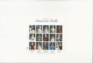 US Stamps/Postage/Sheets Sc #3151 American Dolls MNH F-VF OG FV 4.80