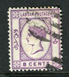 LABUAN; 1892-93 classic early issue fine used 8c. value