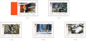 Isle of Man  Sc 1069-73 2004 Christmas stamp set used
