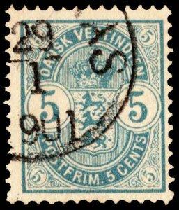Danish West Indies Scott 22 Used.