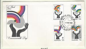 Australia F.D.C  s.c.# 864 - 867