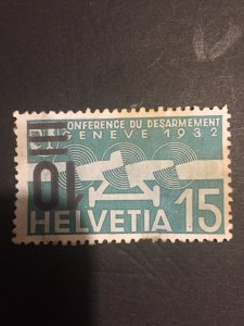 1935-37 Switzerland, Helvetia 15, hand stamp to reverse. Cat. SG#359-A