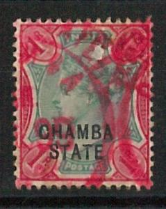 56819 - INDIA: CHAMBA STATES  - STAMPS: Stanley Gibbons # 18 used - NICE!