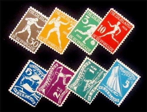 Netherlands Scott B25-B32 MH* 1928 Olympic semi-postal set CV$46