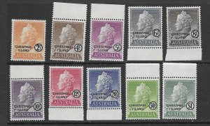 Christmas Island 1-10 MNH and MLH set,vf see desc. 2020 CV $11.00