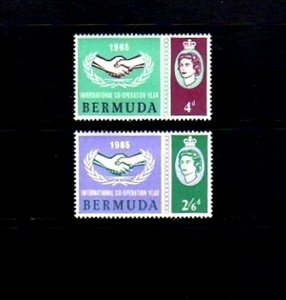 BERMUDA - 1965 - QE II - ICY - COOPERATION YEAR - MINT - MNH SET!