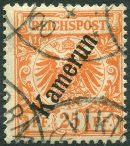CAMEROUN-1897-98 25pf Orange Sg K5 FINE USED V36321