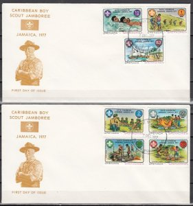 Grenada, Gr., Scott cat. 241-247. Caribbean Jamboree issue. First day cover. ^