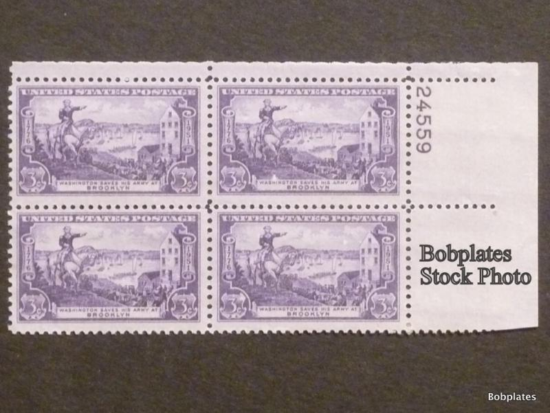 #1003 Brooklyn Lower Left  Plate Block 24559 F-VF NH