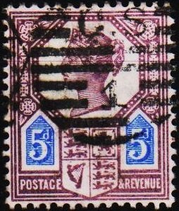 Great Britain 1887 5d S.G.207a Fine Used