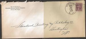 1934 Marmet West Virginia, Company corner card