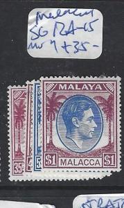 MALAYA MALACCA (P1111B) KGVI SG 12A-15  MOG
