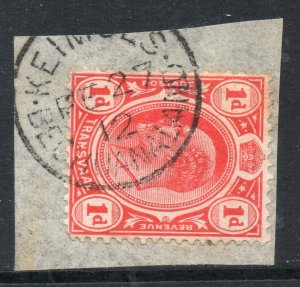 Bechuanaland: 1912 Transvaal KEVII 1d cancelled KEIMOES on piece