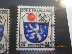 Germany #4N9 used French Zone