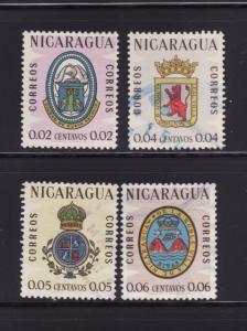 Nicaragua 837, 839-841 U Coats of Arms (A)