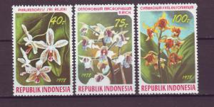 J21086 Jlstamps 1978 indonesia set mh #1036-8 orchids flowers