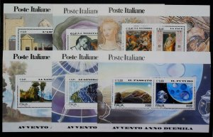 Italy Republic Advent of the Year 2000 x 6 MNH** Full Sheet 14803