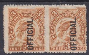 NEW ZEALAND 1907 BIRD 3D OFFICIAL PAIR