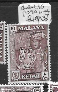 MALAYA KEDAH (P0102B) SULTAN 10C  SG  109A  MNH