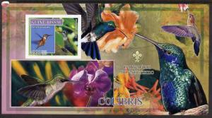 Guinea - Bissau 2007 Birds - Hummingbirds large imperf s/...