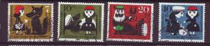 J11085 JL stamps various 1960 germany used set of 4 little red riding hood
