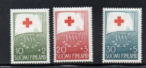 Finland Sc B145-47 1957 Red Cross stamps mint NH